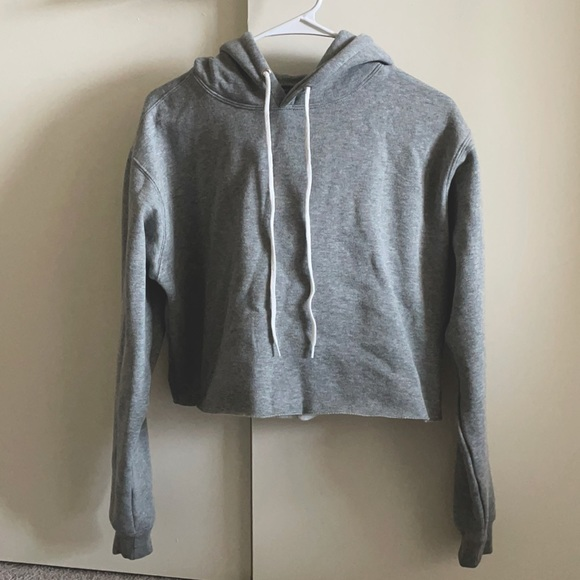 Wild Fable cropped gray hoodie